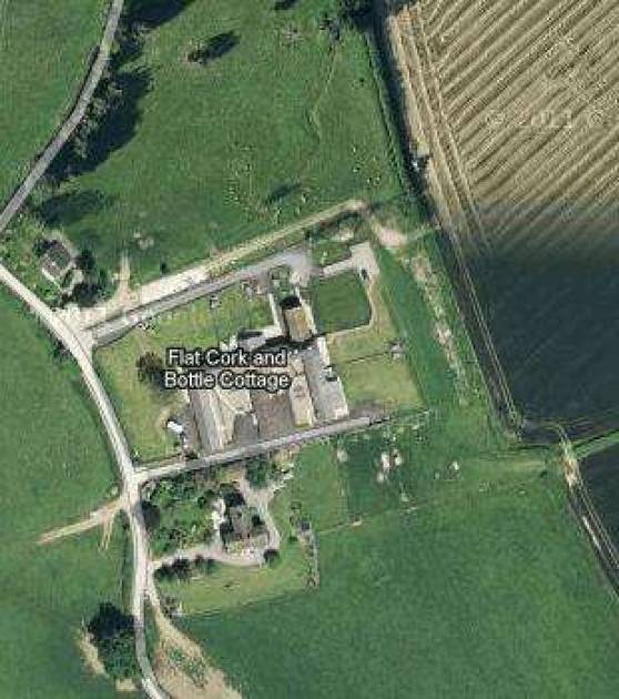 Shetton Barns from  the sky